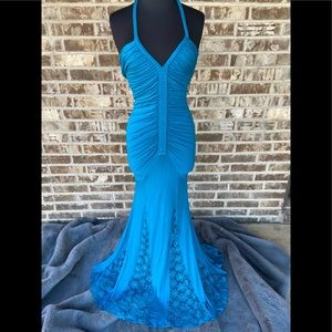 Sky long dress